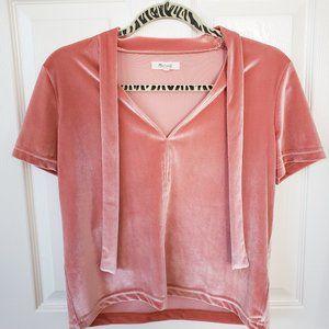 madewell: velvet ribbon shirt